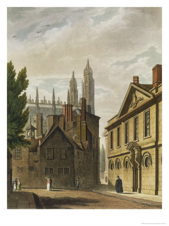 Trinity Hall, Cambridge, from The History of Cambridge, Engraved by Joseph Constantine Stadler Giclee Print by Augustus Charles Pugin
