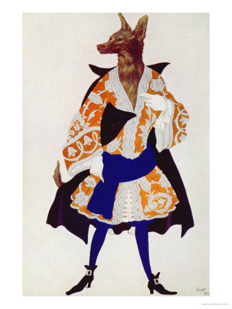 Costume Design For the Wolf, from Sleeping Beauty, 1921 Giclee Print by Leon Bakst