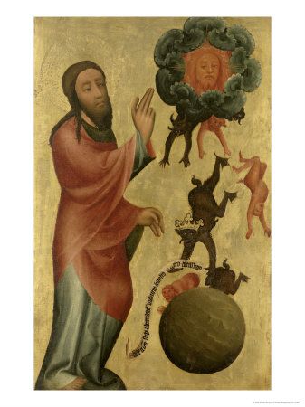 Dividing Light from Darkness from the High Altar of St. Peter's in Hamburg, Grabow Altarpiece, 1383 Giclee Print by  Master Bertram of Minden