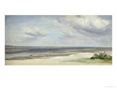 Beach on the Baltic Sea at Laboe, 1842 Giclee Print by Jacob Gensler
