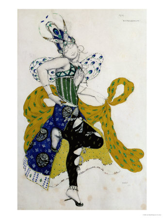 Sketch For the Ballet La Peri, by Paul Dukas Giclee Print by Leon Bakst