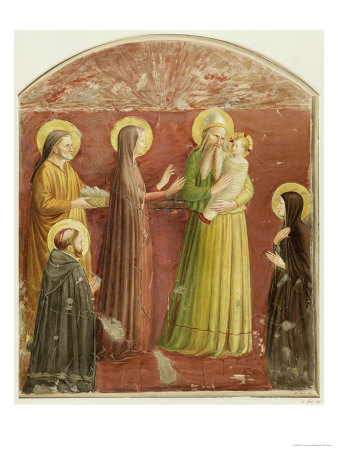 The Presentation in the Temple, from a Series of Prints Made by the Arundel Society Giclee Print by  Fra Angelico