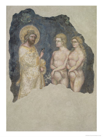 Adam and Eve Blessed by God, c.1357 Lámina giclée