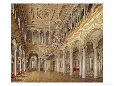 The Pavilion Hall, the Small Hermitage, 1864 Giclee Print by Eduard Hau
