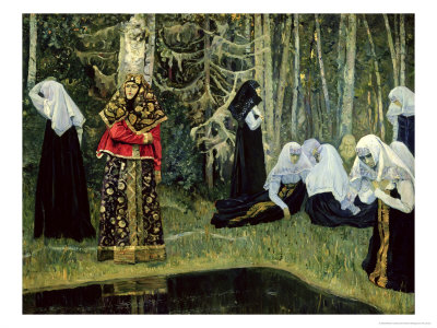 The Legend of the Invisible City of Kitezh, 1917-22 Giclee Print by Mikhail Vasilievich Nesterov