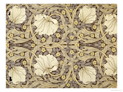 Pimpernell, Design For Wallpaper, Morris, William Lámina giclée