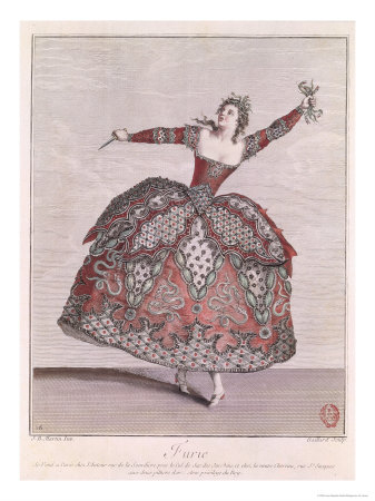 Costume Design For a Fury in Hippolyte et Aricie by Jean-Philippe Rameau Giclee Print by Jean Baptiste Martin