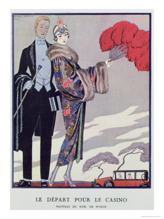 Leaving For the Casino. Illustration For La Gazette du Bon Ton, 1923 Giclee Print by Georges Barbier