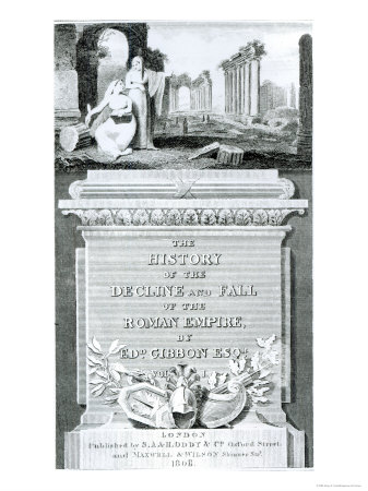 Titlepage of The History of the Decline and Fall of the Roman Empire, Edward Gibbon, Vol 1, 1808 Giclee Print