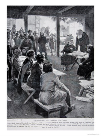 The Founding of Cambridge in 1109, Illustration from The History of the Nation Giclee Print by Ernest Prater