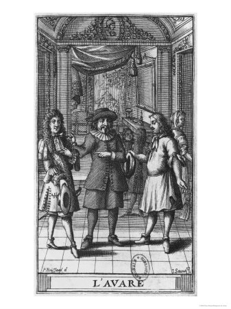 Moliere as Harpagon, Frontispiece Illustration from The Miser by Moliere, Engraved by Jean Sauve Giclee Print by Pierre Brissart