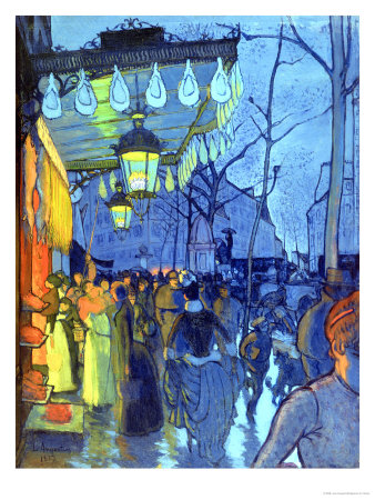 Street Scene, at Five in the Afternoon, 1887 Giclee Print by Louis Anquetin
