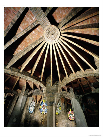 Ceiling of the Guell Crypt, 1908-15 Giclee Print by Antoni Gaudí