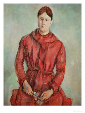 Portrait of Madame Cezanne in a Red Dress, c.1890 Giclee Print by Paul Cézanne
