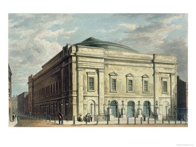 Theatre Royal, Drury Lane, in London, Designed by Benjamin Wyatt in 1812, 1826 Giclee Print by Daniel Havell