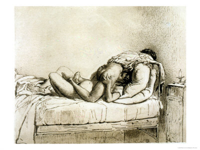 Couple Having Sex, Plate 27 from Liebe Giclee Print by Mihaly von Zichy