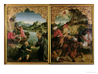 Stories of S.S. Peter and Paul Altarpiece: Vocation of St. Peter, Conversion of St. Paul Giclee Print by Hans Von Kulmbach