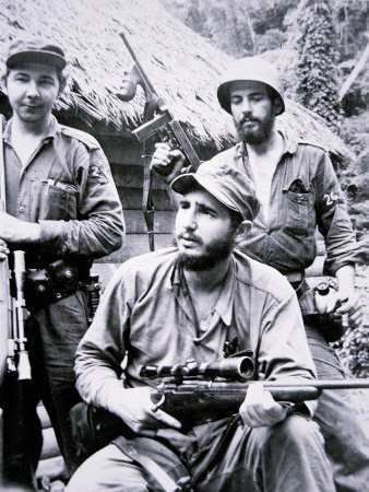 Fidel Castro in the Sierra Maestra Mountains, 1957 Photographic Print