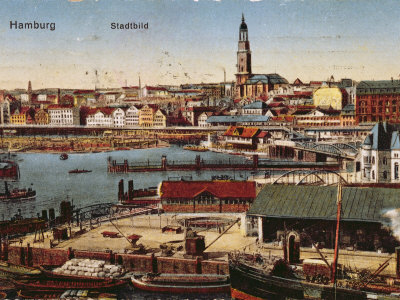 Postcard of Hamburg, c.1910 Photographic Print by  German School