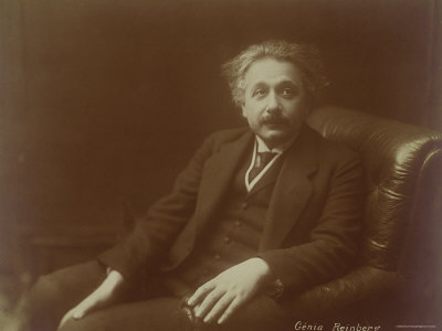 Albert Einstein Photographic Print by Genia Reinberg