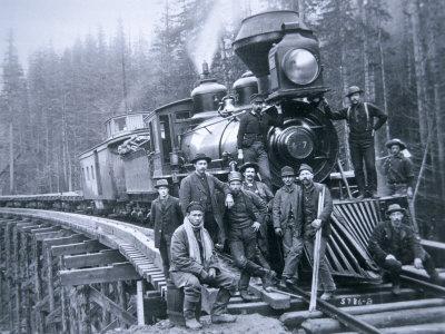 Railroad Construction Crew, 1886 Photographic Print