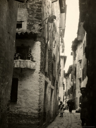 An Alleyway of the City of Grado During World War I Photographic Print