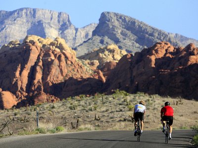 Two Cyclists Ride Along the 13-Mile-Long Scenic Drive Photographic Print