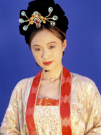 Chinese Woman in Tang Dynasty Dress, China Photographic Print