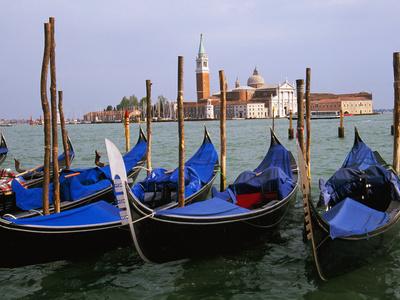 Gondolas near Piazza San Marco, Venice, Italy Photographic Print by Tom Haseltine