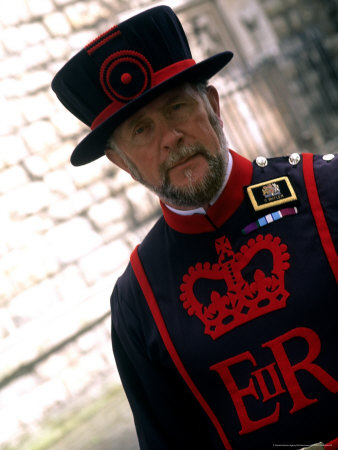 Beefeater at the Tower of London, London, England Photographie