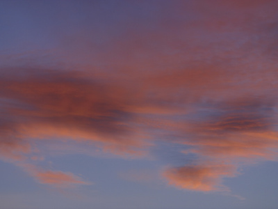 An Expanse of Purple and Blue and Orange in a Colorful Sunset Photographic Print