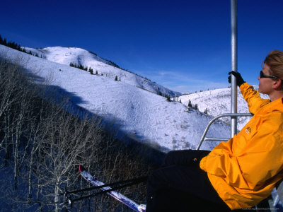 Catching the Chairlift to the Canyons in Park City, Utah, USA Lámina fotográfica por Cheyenne Rouse