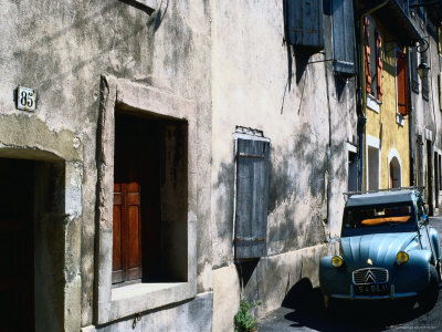 Citroen Dcv Car Parked in Street, France Photographic Print by Rodney Hyett