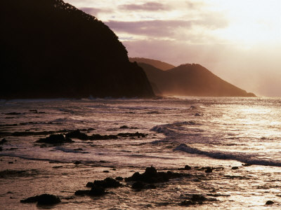 Looking Towards Mount Defiance Lookout, South of Lorne on the Great Ocean Road, Lorne, Australia Photographic Print by Rodney Hyett