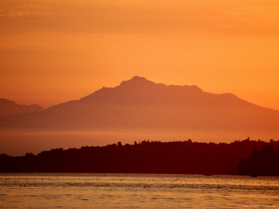 Sunset from Ferry, Vancouver, Canada Photographic Print by Frank Carter