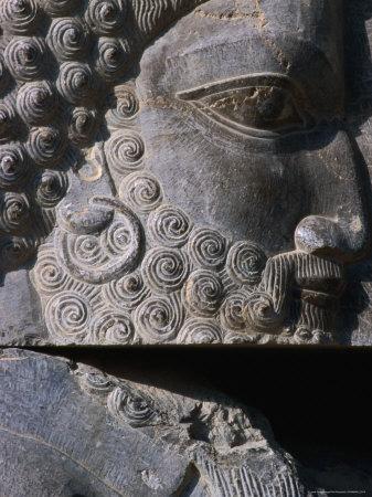 Detail of Statue Persepolis (Takht-E Jamshid), Fars, Iran Photographic Print by Phil Weymouth