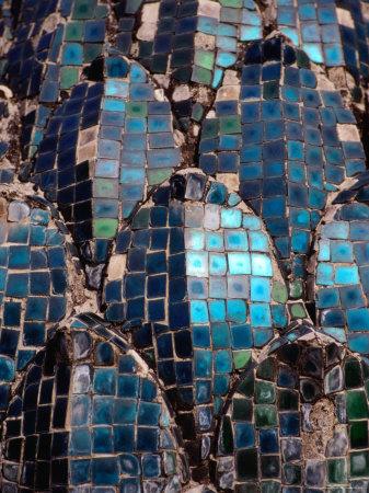 Glass Mosaics from Wat Xieng Thong (Golden City Monastery), Luang Prabang, Luang Prabang, Laos Photographic Print by Martin Lladó
