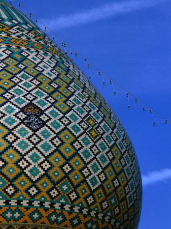 Tiled Dome of Emamzade-Ye Shiraz, Fars, Iran Photographic Print by Phil Weymouth