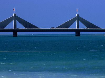 Sheikh Isa Bin Sulman Causeway Manama, Al Manamah, Bahrain Photographic Print by Phil Weymouth