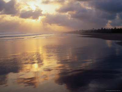 Clouds Over Pangandaran Beach, Java, Central Java, Indonesia Photographic Print by Glenn Beanland