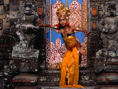 Young Girl at Temple Ceremony in Sengkidu, Indonesia Photographic Print by Adams Gregory