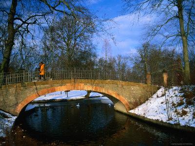 Historic Stone Bridge in Frederiksberg Have, Copenhagen, Denmark Photographic Print by Martin Lladó