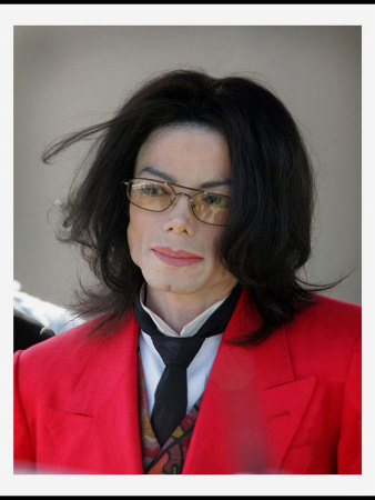 Michael Jackson Arrives at the Santa Maria Court House, March 2005 Photographic Print