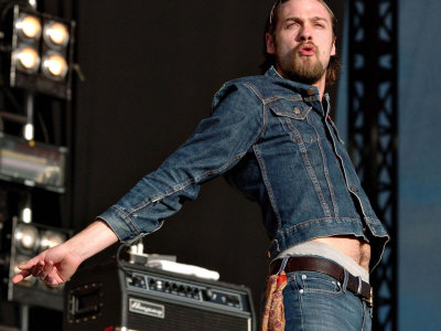 Tom Meighan of Kasabian, T in the Park Concert Balado, July 2005 Photographic Print