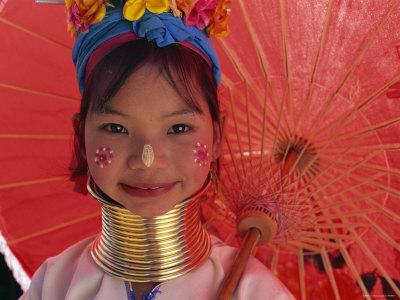 Thailand, Chiang Rai, Long Neck Karen Hilltribe, Long Neck Girl Photographic Print by Steve Vidler