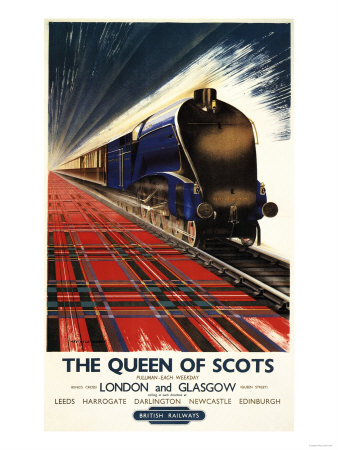 Great Britain - Queen of Scots Pullman Train British Railways Poster Premium Poster