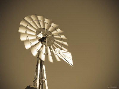 USA, Oklahoma, Windpumps and Windmill Photographic Print by Alan Copson