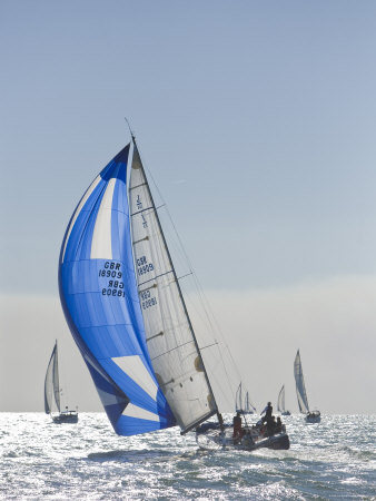 Harvest Moon Regatta, Galveston, Texas, USA Photographic Print by Russell Young