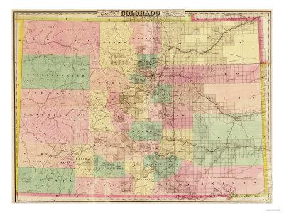 Colorado - Panoramic Map Prints by  Lantern Press