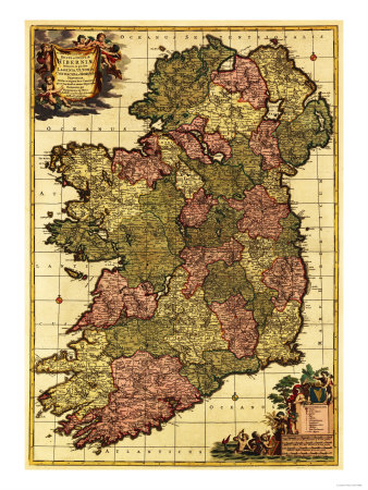 Ireland - Panoramic Map Art Print
